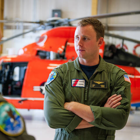 Lieutenant Wes Jones - U.S. Coast Guard MH-65 Dolphin Helicopter Pilot
